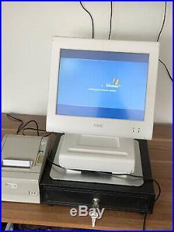 Epos Now POS Terminal Retail System Till, Printer & Cash Draw Used