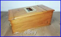Excellent Antique Oak Cash Register Wooden Till Drawer with Brass Fittings