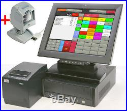 FSC Cash Register System 15 38cm Touchscreen Monitor Scanner till for Retail