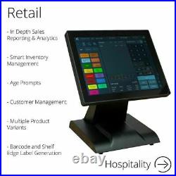 FirstPOS 12in Touch Screen EPOS POS Cash Register Till System Bookmakers Bookies