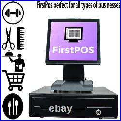 FirstPOS 12in Touch Screen EPOS POS Cash Register Till System Discount Store