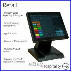 FirstPOS 12in Touch Screen EPOS POS Cash Register Till System Farm Shop