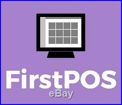FirstPOS 12in Touch Screen EPOS POS Cash Register Till System Fish and Chip Shop