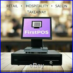 FirstPOS 12in Touch Screen EPOS POS Cash Register Till System Golf Club