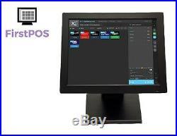 FirstPOS 12in Touch Screen EPOS POS Cash Register Till System Hair Beauty Salon