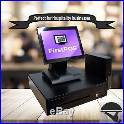 FirstPOS 12in Touch Screen EPOS POS Cash Register Till System Market Trader