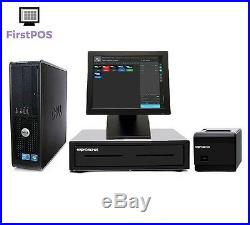FirstPOS 12in Touch Screen EPOS POS Cash Register Till System Money Shop