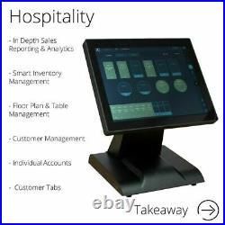 FirstPOS 12in Touch Screen EPOS POS Cash Register Till System Money Shop