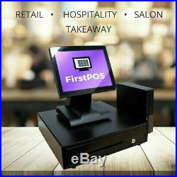 FirstPOS 12in Touch Screen EPOS POS Cash Register Till System Tanning Salon