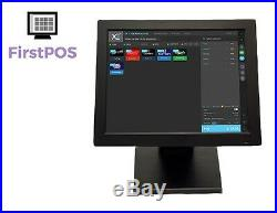 FirstPOS 12in Touch Screen EPOS POS Cash Register Till System for Barber Shop