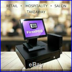 FirstPOS 12in Touch Screen EPOS POS Cash Register Till System for Dessert Shop