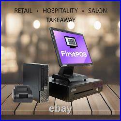 FirstPOS 17in Touch Screen EPOS POS Cash Register Till System Charity Shop