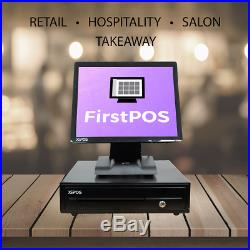 FirstPOS 17in Touch Screen EPOS POS Cash Register Till System Computer PC Shop