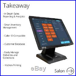 FirstPOS 17in Touch Screen EPOS POS Cash Register Till System Kebab Shop