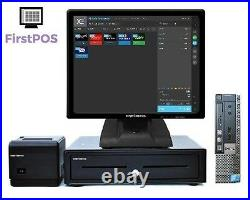 FirstPOS 17in Touch Screen EPOS POS Cash Register Till System Print Shop