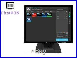 FirstPOS 17in Touch Screen EPOS POS Cash Register Till System Shisha Lounge