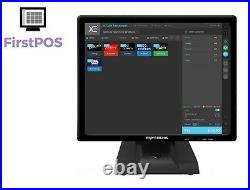 FirstPOS 17in Touch Screen EPOS POS Cash Register Till System Sports Club