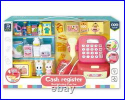 Kids Battery Operated Supermarket Till Cash Register Toy Pretend Play