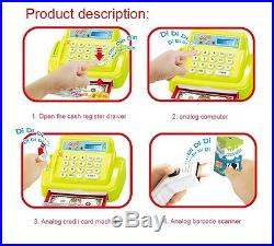 Kids Supermarket Till Cash Register Toy Set Pretend Play Mechine Fun Xmas Gift