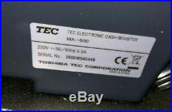 Lot 12x Toshiba TEC MA-600 Electronic Cash Registers / Tills
