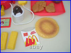 McDonalds Vintage Huge Role Play Toy Bundle Fast Food Till Cash Register Sounds