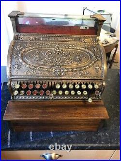 National Antique Till, Cash Register Brass