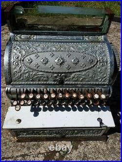 National Cash Register, Antique Brass Till, Made in 1901, Dayton Ohio