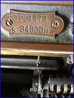 National Cash Register, Antique Brass Till, Made in 1910, Dayton Ohio
