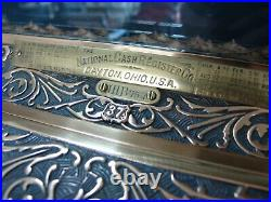 National Cash Register Brass Chicken Scratch Pattern / NCR / Antique Till