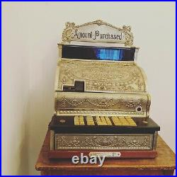 National Cash Register, Vintage Brass shop till, NCR