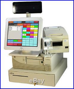 Ncr till Cash Register System Gdpdu Touchscreen Receipt Printer bar Code Scanner