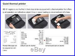 New Casio Electronic Se-g1 Cash Register Shop Till Thermal Printer 20 Free Rolls