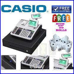 New Casio Electronics Se-s400 Ses400 Se S400 Cash Register Till 20 Free Roll