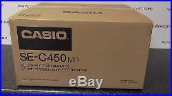 New Casio se-c450 Cash Till Register Large Display Shop Electronic Money Drawer