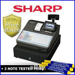 New Sharp Xe-a217b Coffee Shop Cash Register Xe-a217-bk Till Xe-a217 Black (zc4)