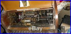 Rare Antique Wooden Gledhill Of Halifax Original Shop Till Cash Register