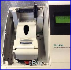 SAM4S ER-390M Electronic Cash Register Complete + Spool +Till Rolls And Free P&P