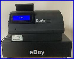 SAM4S NR-520RB Electronic Cash Register Complete With Till Rolls And Free P&P