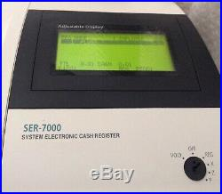 SAM4S SER-7000 Electronic Cash Register With A Box Of Till Rolls And Free P&P