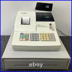 SAM4s ER-290 Electronic Cash Register Complete With Till Rolls And Free P&P