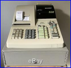 SHARP ER-A310 Electronic Cash Register Complete With Till Rolls And Free P&P