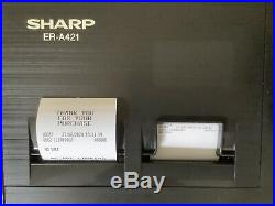 SHARP ER-A421 Electronic Cash Register Complete With Till Rolls And Free P&P