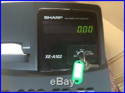 SHARP XE-A102-BK Electronic Cash Register With Till Rolls And Free P&P