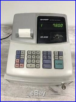 SHARP XE-A102 Electronic Cash Register WORKING with Till Rolls X8