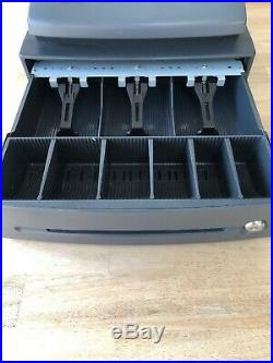 SHARP XE-A102 Electronic Cash Register With Till Rolls New ink Roller RARE GREY