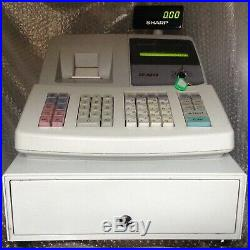 SHARP XE-A203 Electronic Cash Register Complete With Till Rolls And Free P&P