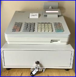SHARP XE-A207W Electronic Cash Register With Box Of Till Rolls And Free P&P