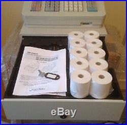 SHARP XE-A207W Electronic Cash Register With Till Rolls And Free P&P