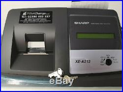 SHARP XE-A213 Electronic Cash Register Till Retail Shop Used Boxed