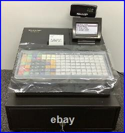 SHARP XE-A217B Electronic Cash Register Complete With Till Rolls And Free P&P